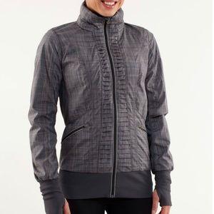 Lululemon Run Back On Track Gray Plaid Jacket